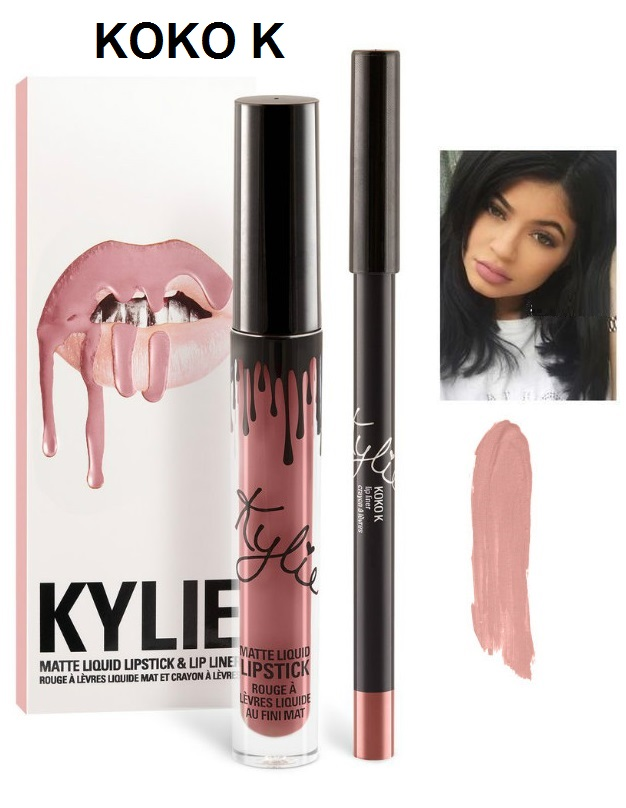 Набор помада + карандаш Kylie Lipstick & Lip Liner 15