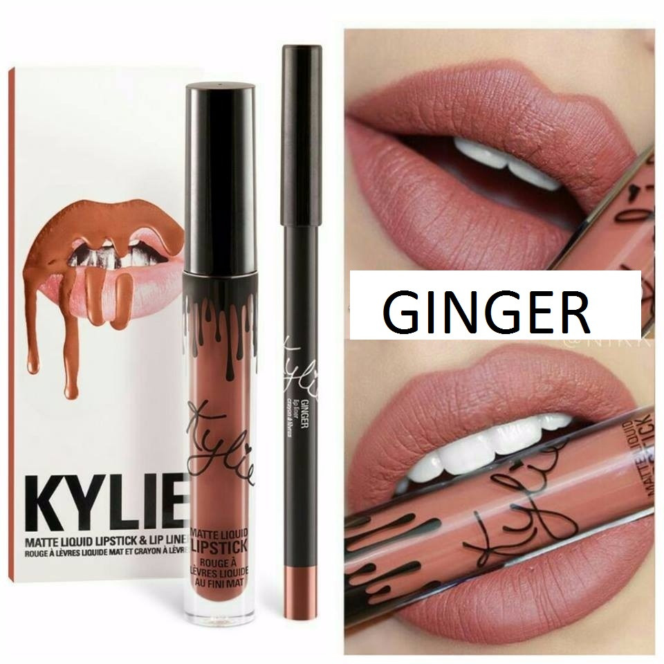 Набор помада + карандаш Kylie Lipstick & Lip Liner 04