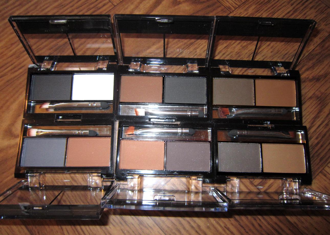 Компактный набор теней для бровей (пудра для бровей) 02