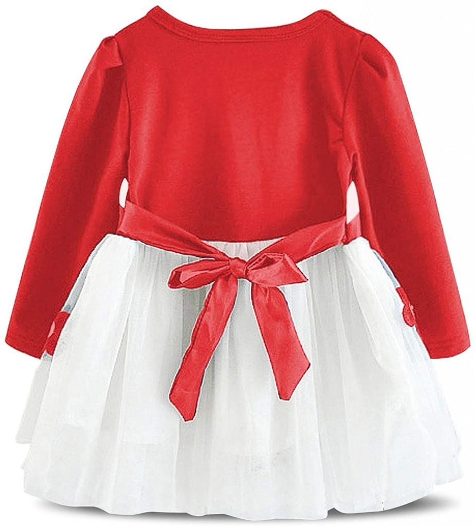Нарядное платье с вышивкой маргаритки 02