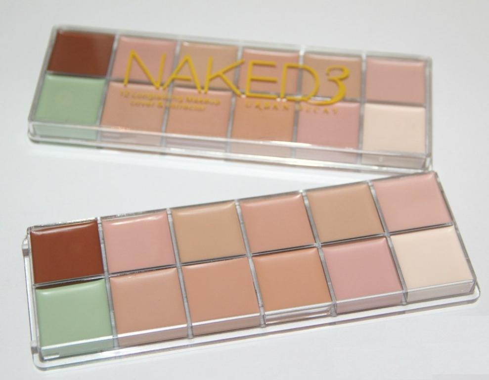 Профессиональная палитра консилеров (корректоров) 12 цветов Naked3 - незаменимая для макияжа! 01