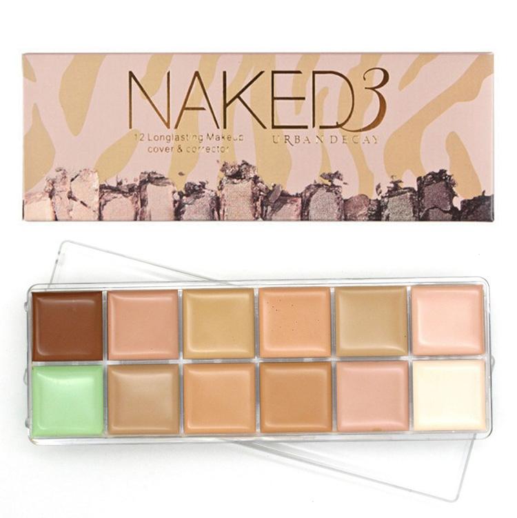 Профессиональная палитра консилеров (корректоров) 12 цветов Naked3 - незаменимая для макияжа!