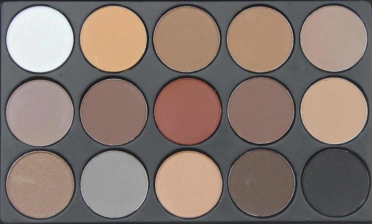 Профессиональная палитра матовых пастельных теней 15 цветов (сухие корректоры) 04