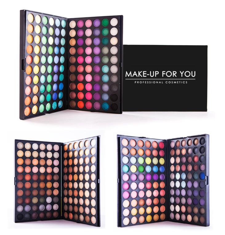 Профессиональные палетки (палитры) теней 120 цветов MAKE-UP FOR YOU оригинал по супер цене!