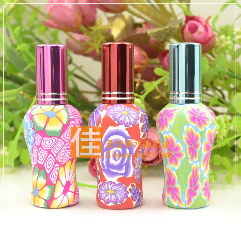 Флаконы стеклянные расписные 12 мл, атомайзеры для духов, флаконы для парфюмерии, фиолки 12 мл