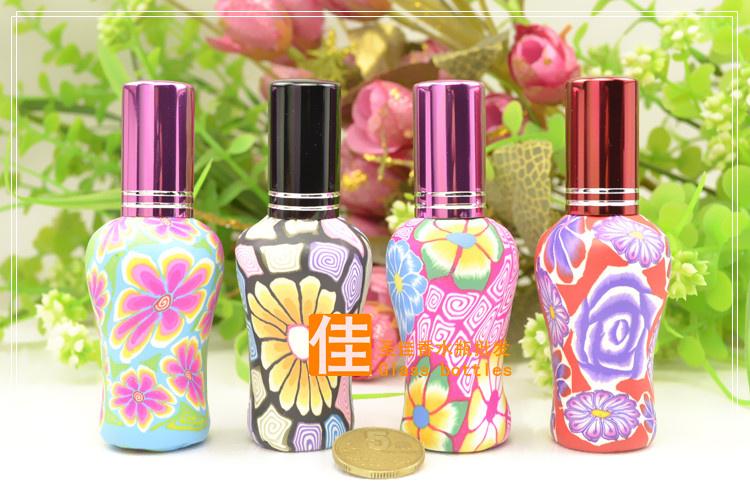 Флаконы стеклянные расписные 12 мл, атомайзеры для духов, флаконы для парфюмерии, фиолки 12 мл 01