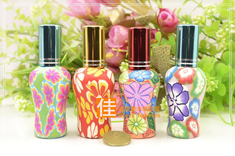 Флаконы стеклянные расписные 12 мл, атомайзеры для духов, флаконы для парфюмерии, фиолки 12 мл 02