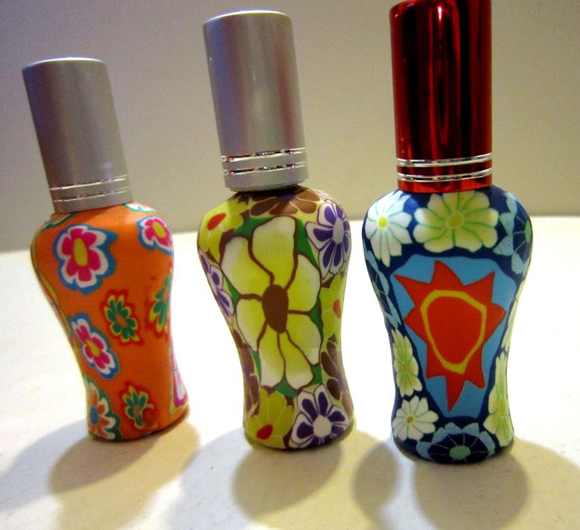Флаконы стеклянные расписные 12 мл, атомайзеры для духов, флаконы для парфюмерии, фиолки 12 мл 03