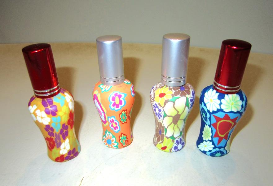 Флаконы стеклянные расписные 12 мл, атомайзеры для духов, флаконы для парфюмерии, фиолки 12 мл 05
