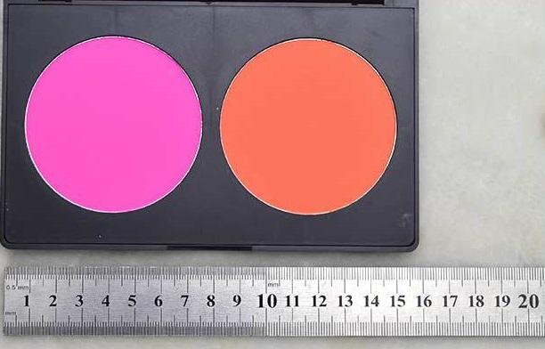Визажная палитра румян 2 цвета 02