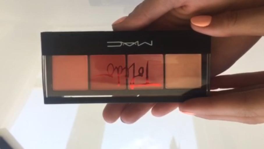 Палитра румян MAC 4 цвета по супер цене 02