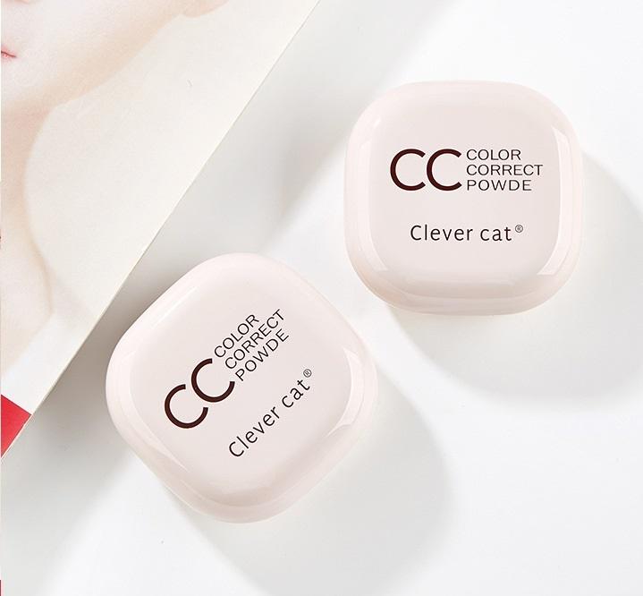 Компактная двойная CC пудра Clever cat 07