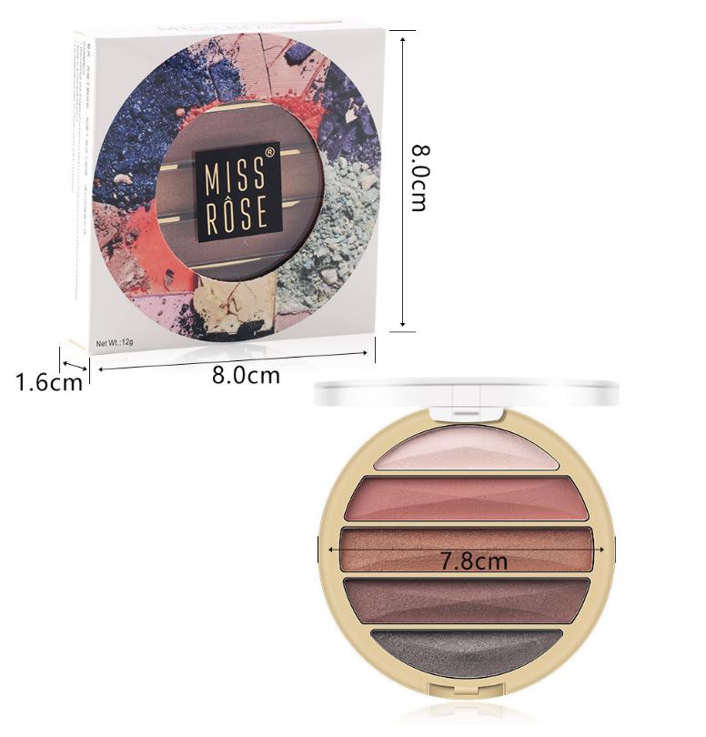 Тени 5 цветов MISS ROSE 06