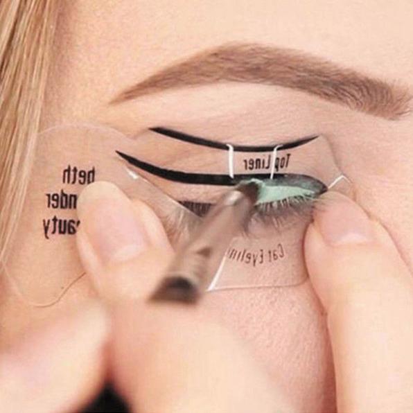 Трафареты для стрелок и теней Eyeliner fashion 02