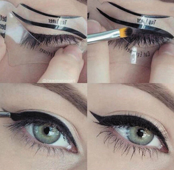 Трафареты для стрелок и теней Eyeliner fashion 01