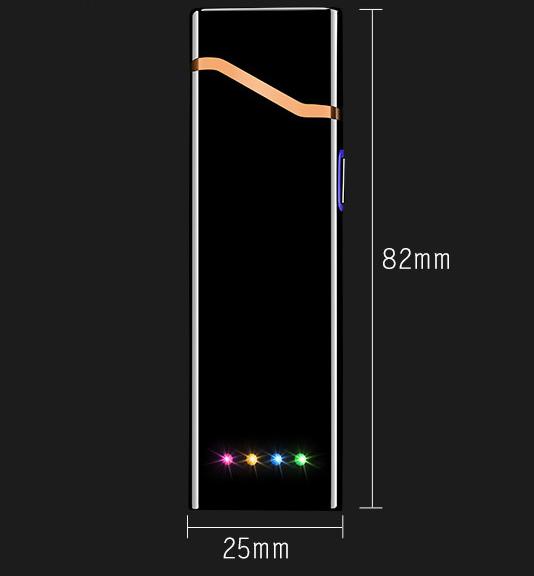 USB электро зажигалка сенсорная электрическая с отпечатком пальца Lighter 04