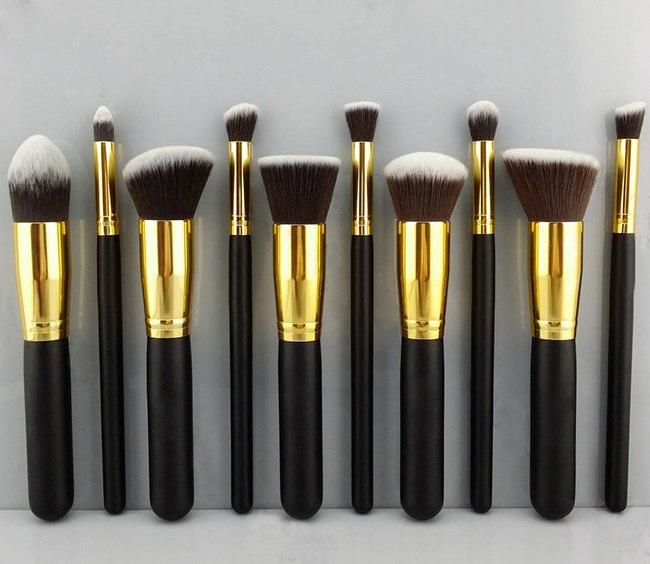 Профессиональный набор из 10 кистей для макияжа 08